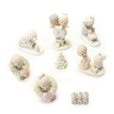 "Precious Moments ""Bringing You A Merry Christmas"" and Other Figurines"