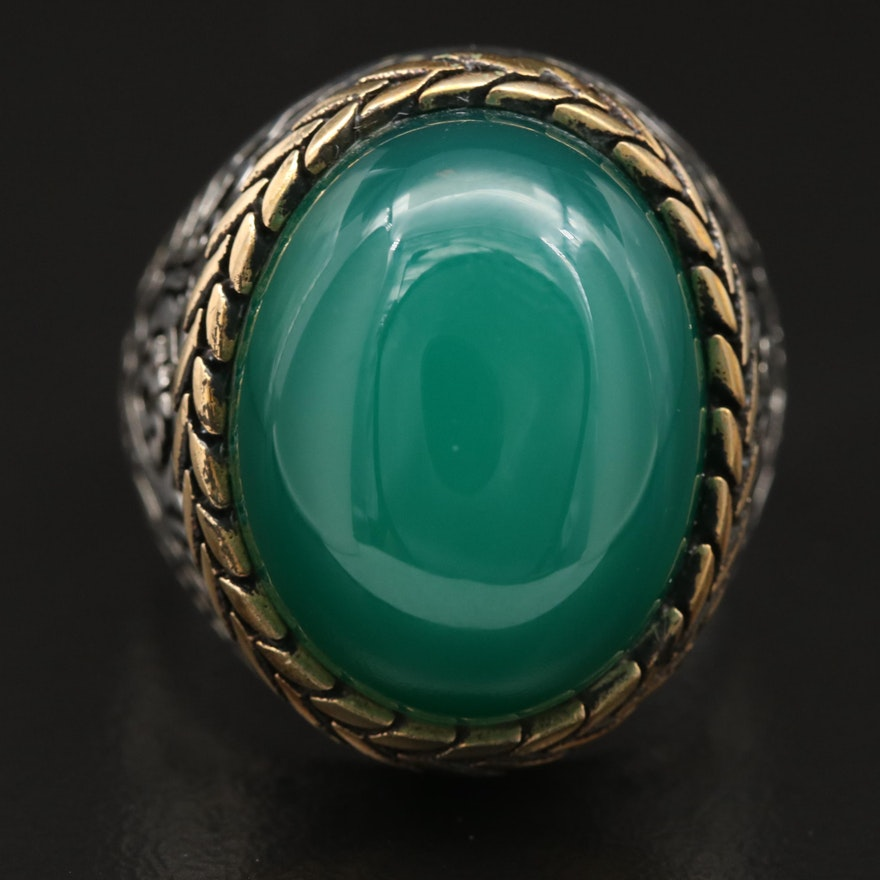 Sterling Chalcedony Dome Ring