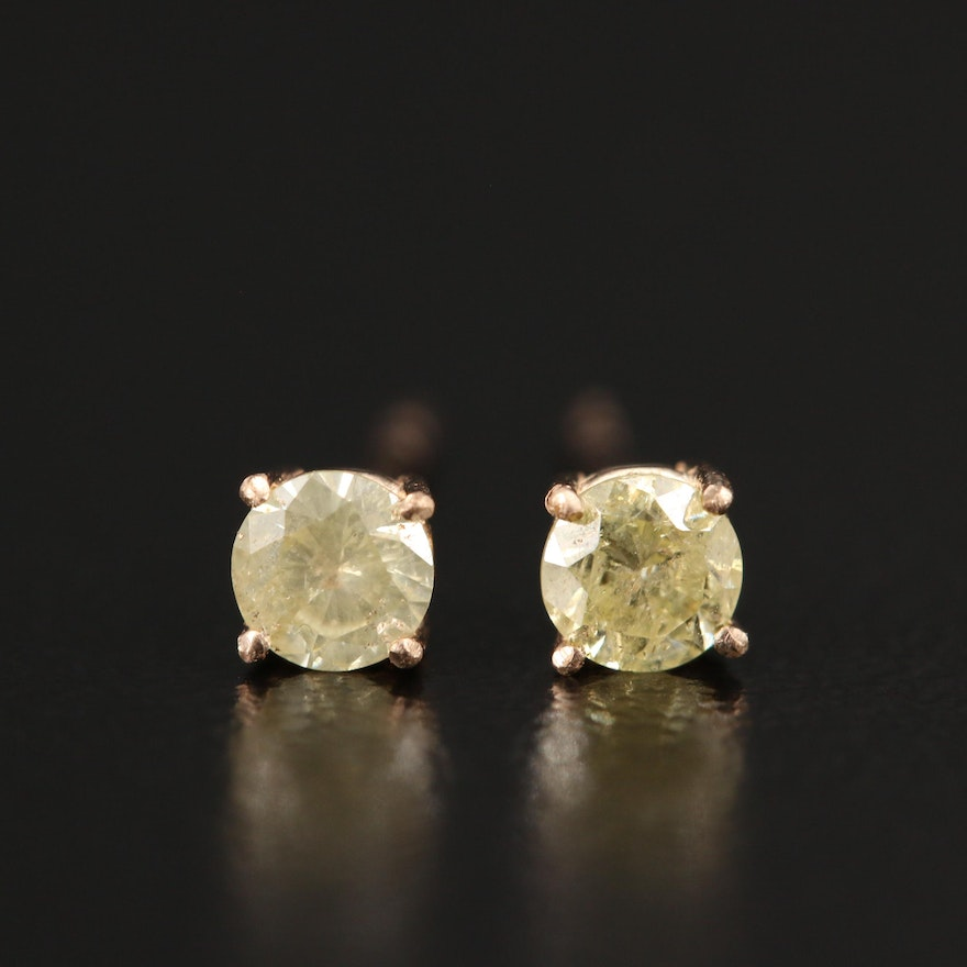 14K 0.29 CTW Diamond Stud Earrings