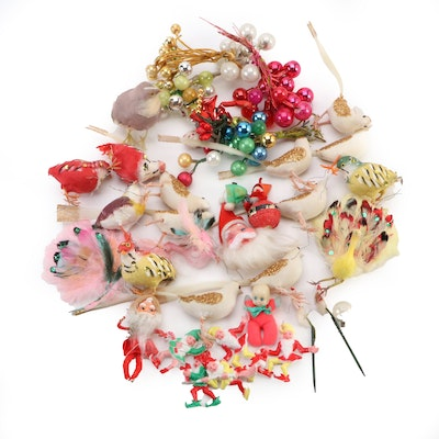 Collection of Assorted Christmas Tree Ornaments, Mid-20th Century