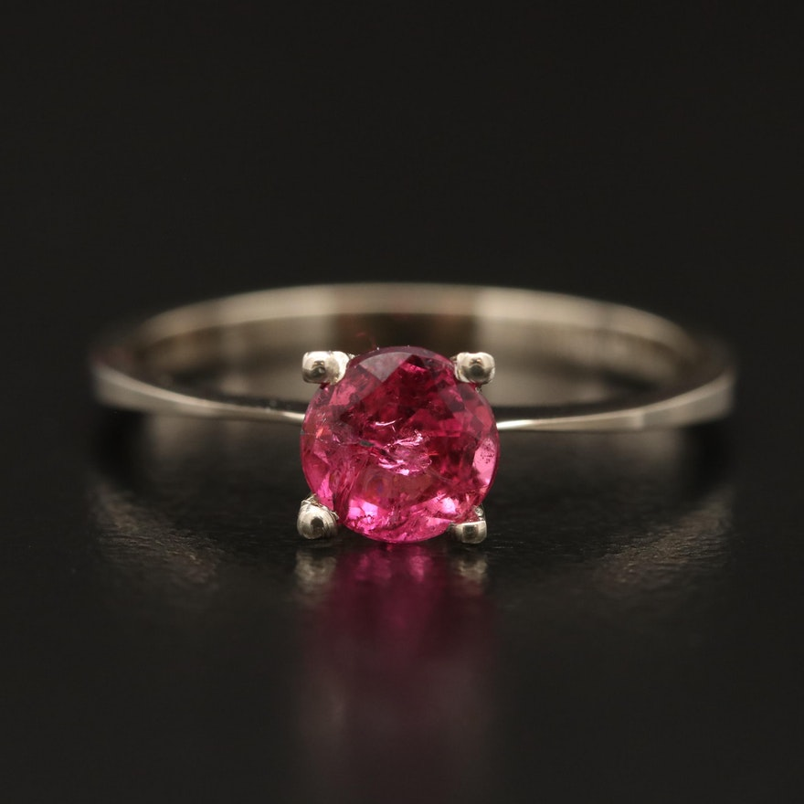 14K Pink Tourmaline Solitaire Ring