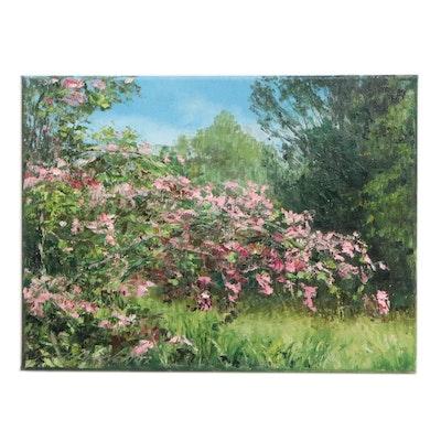 "Garncarek Aleksander Landscape Oil Painting ""Jasmine"", 2020"