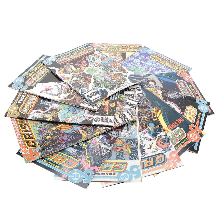 "Complete Set ""Crisis on Infinite Earths"" Comic Books 1 through 12"