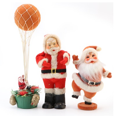 Christmas Ornament Santa Claus Table Decor, Mid-20th Century
