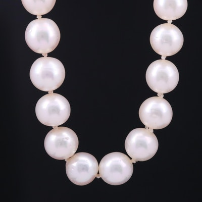Single Strand Endless Pearl Necklace