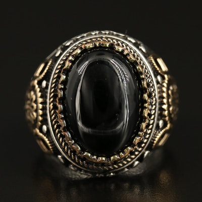 Sterling Silver Balck Onyx Ring
