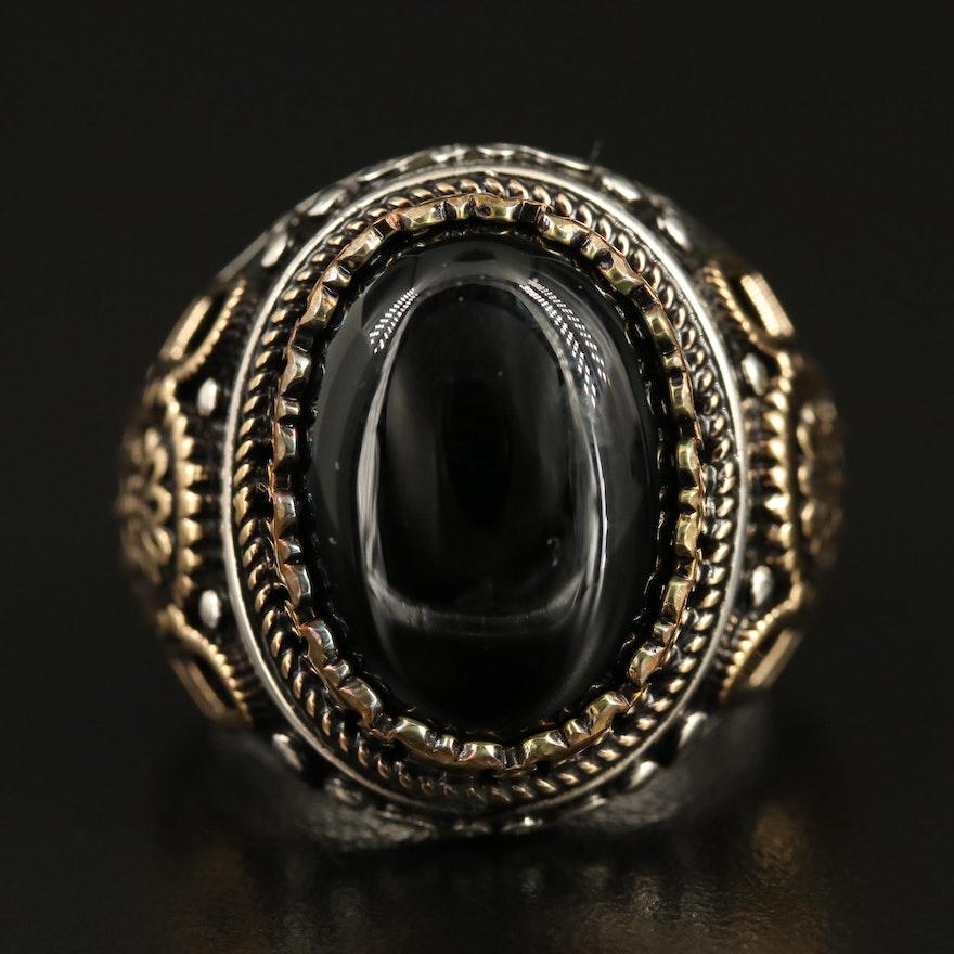 Sterling Silver Balck Onyx Ring