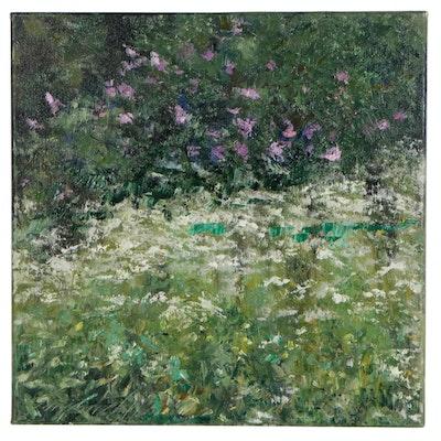 "Garncarek Aleksander Landscape Oil Painting ""Meadow"""