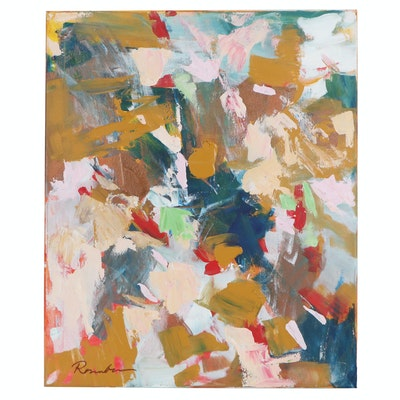Sally Rosenbaum Abstract Acrylic Painting