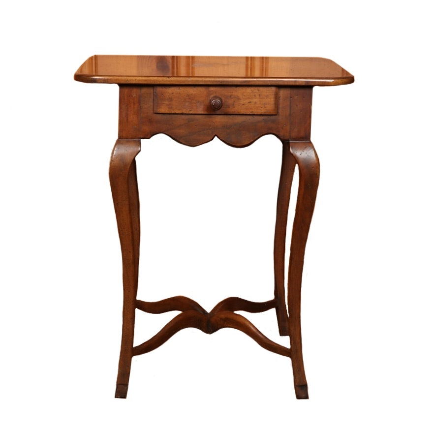 "Hickory Chair Company ""American Digest"" Walnut Side Table"