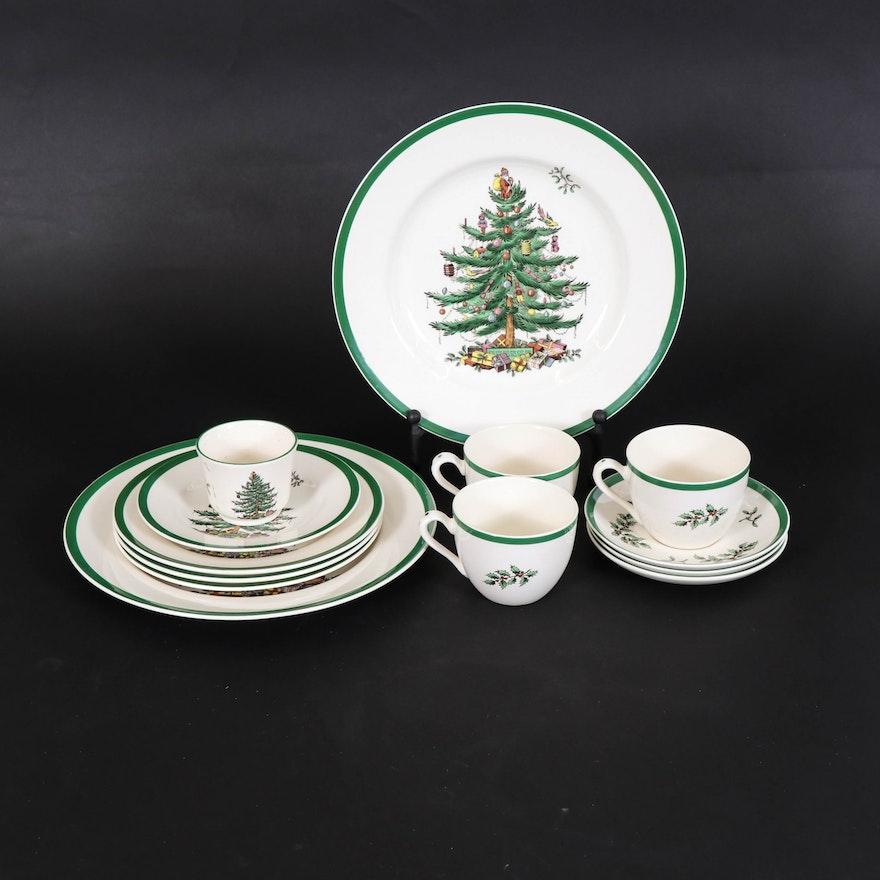 """Spode """"Christmas Tree"""" Porcelain Dinnerware"""