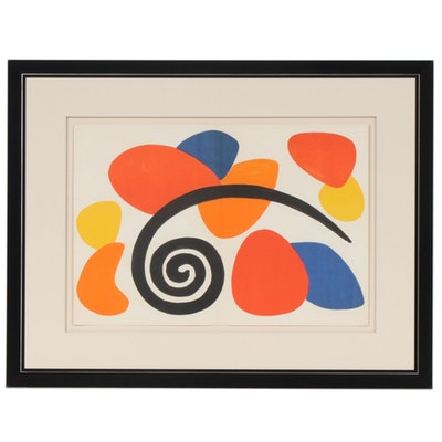 "Alexander Calder Double-Page Color Lithograph for ""Derrière le Miroir"", 1968"