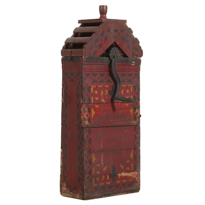Primitive Hand Crank Grain Separator, with Stenciled Retail Name