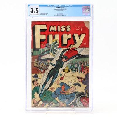 """Miss Fury #6"" Grade 3.5 Comic Book"