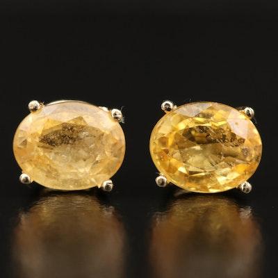 14K 3.00 CTW Sapphire Stud Earrings