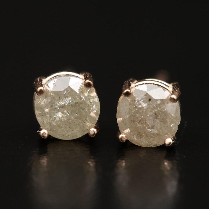 14K Gold 0.65 CTW Diamond Stud Earrings