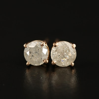14K 1.18 CTW Diamond Stud Earrings