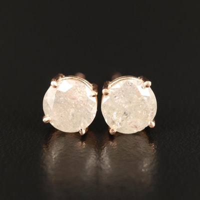 14K 1.75 CTW Diamond Stud Earrings