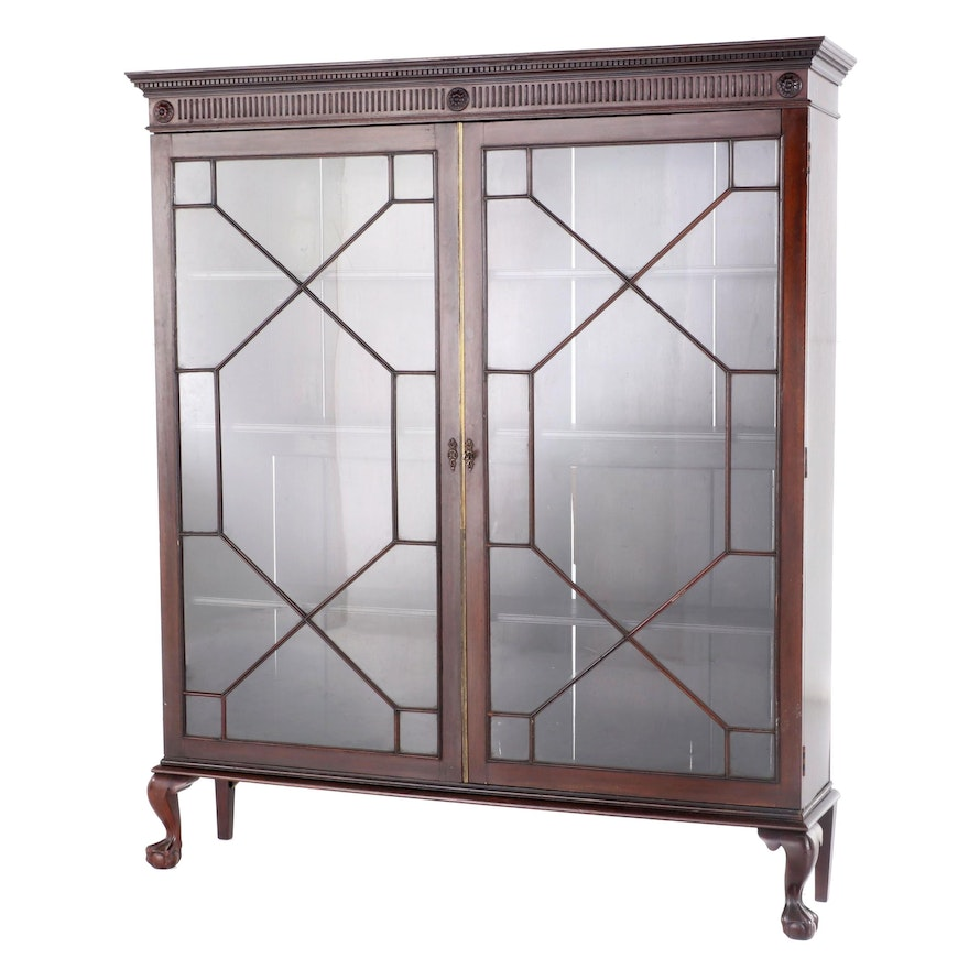 George III Style  Glass Front Display Cabinet, Early to Mid-20th Century