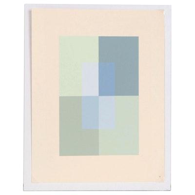"Josef Albers Abstract Serigraph from ""Interaction of Color,"" 1963"