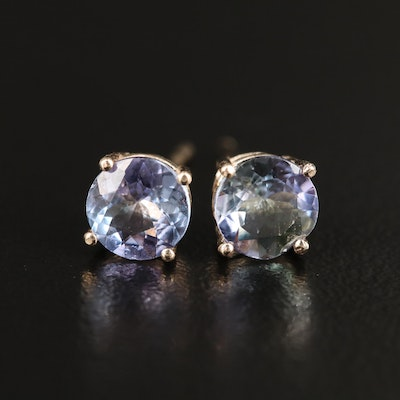 14K Tanzanite Stud Earrings