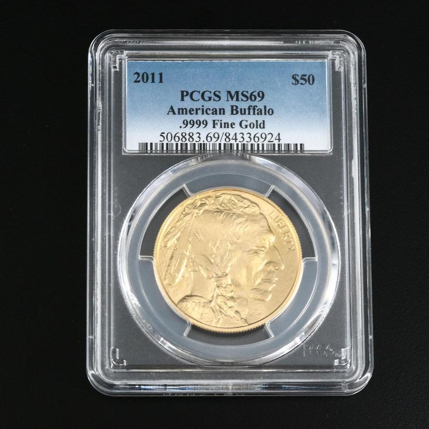 PCGS Graded MS69 American Buffalo .9999 Fine Gold $50 Coin