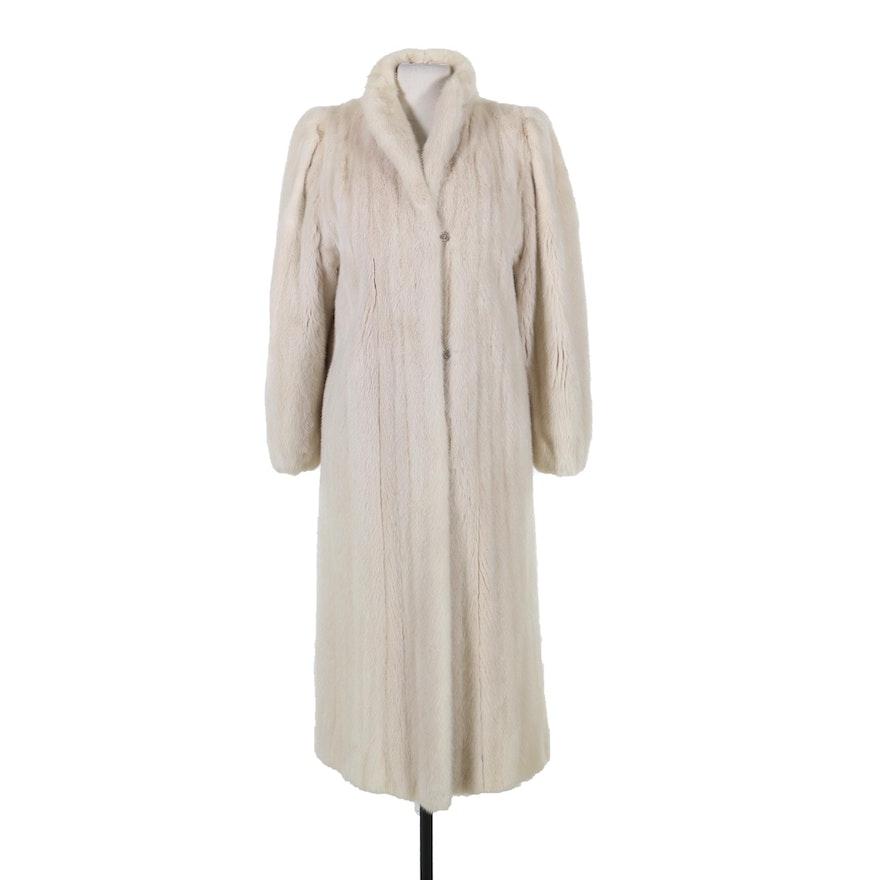 Anne Klein Tourmaline Mink Fur Swing Coat