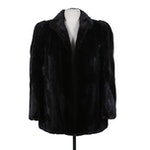 Dark Mahogany Mink Fur Spiral-Sleeve Open-Front Coat
