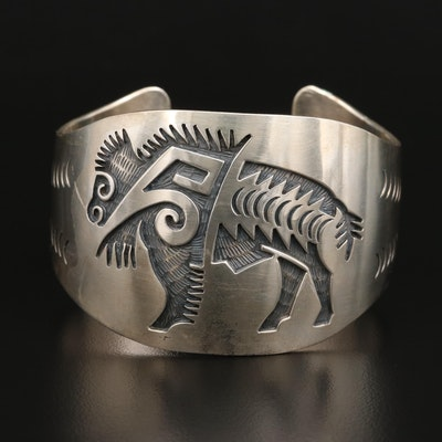 Sterling Silver Buffalo Cuff