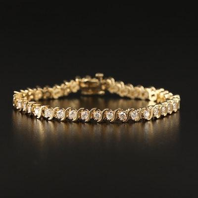 14K 3.25 CTW Diamond S-Link Bracelet