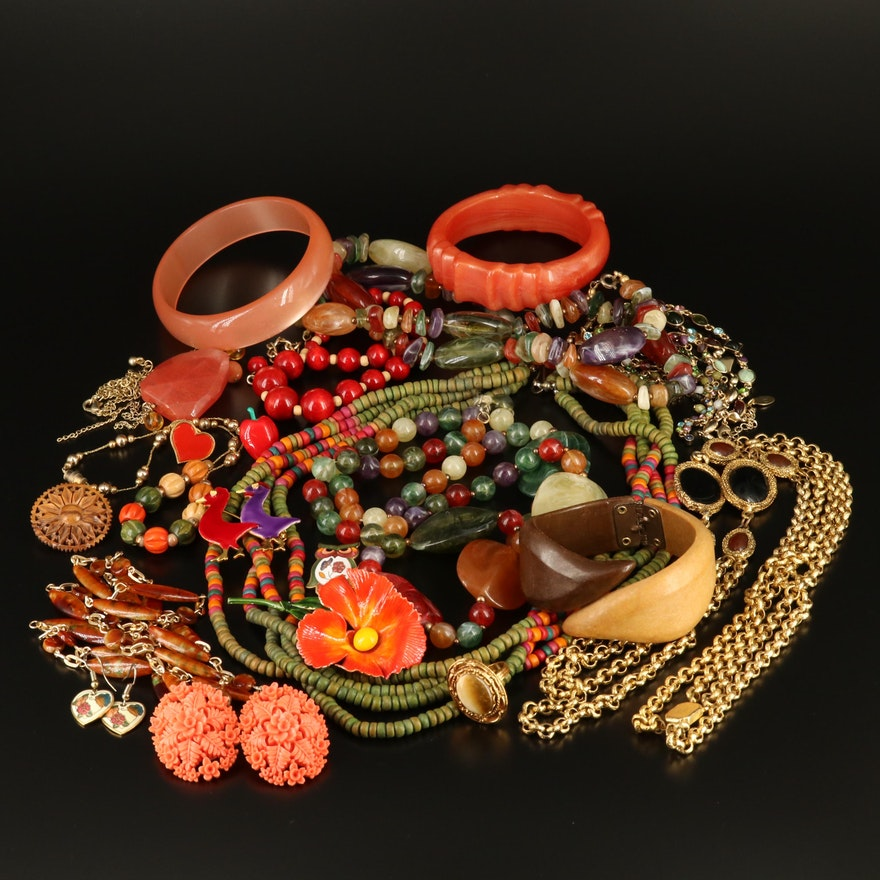Collection of Jewelry Featuring Original by Robert, Sandor Co. and Jubilee