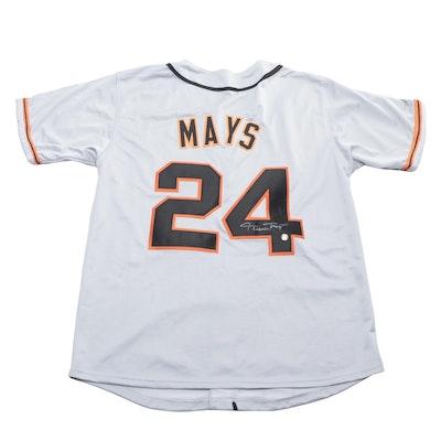 Willie Mays Signed San Francisco Giants Replica Baseball Jersey, Say Hey COA