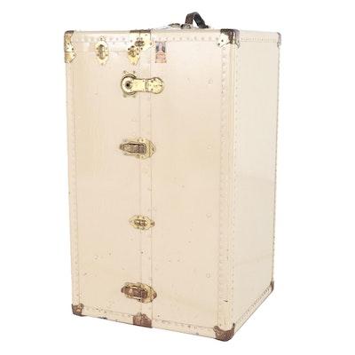 Oshkosh Trunks & Luggage Painted Metal Luggage Trunk
