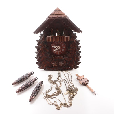 R. Rodgers German Cuckoo Clock with Swiss Musical Movement