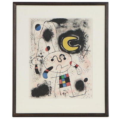 "Joan Miró Color Lithograph for ""Miró. Recent Paintings"", 1953"
