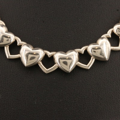 Tiffany & Co. Sterling Silver Heart Link Necklace