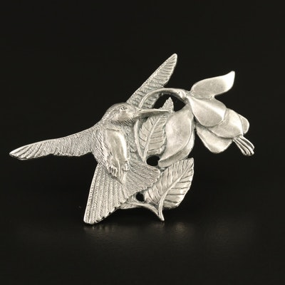 Salisbury Pewter Hummingbird Brooch