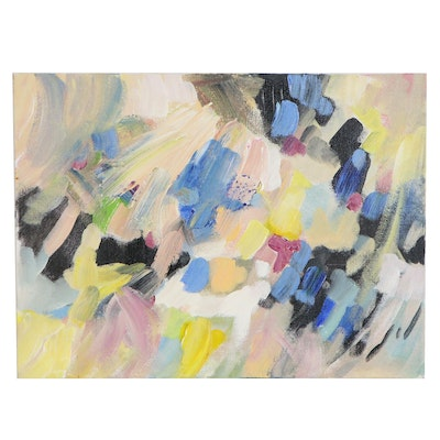 Sally Rosenbaum Abstract Oil Painting, 2020