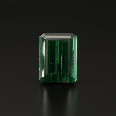 Loose 13.25 CT Rectangular Tourmaline