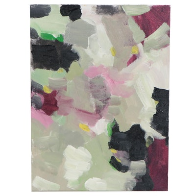 Sally Rosenbaum Abstract Oil Painting, 21st Century