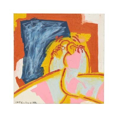 Chloe Gaillard Modernist Acrylic Painting of Feet, 2014