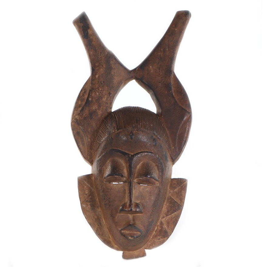 Yaure Hand-Carved Wood Mask, Côte d'Ivoire