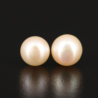 14K Pearl Single Stud Earrings