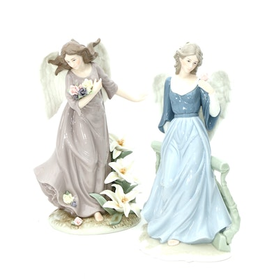 O'Well Porcelain Angel Figurines, Late 20th Century