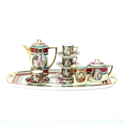 Pirkenhammer Royal Vienna Style Coffee Service, Early 20th Century