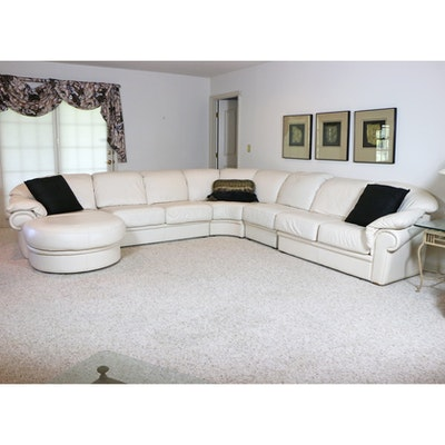 Natuzzi Salotti Leather Sectional Sofa