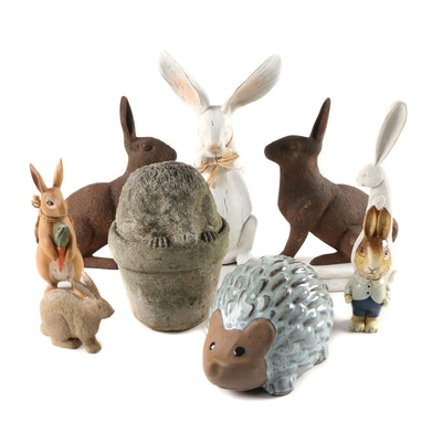 Bunny Rabbits and Hedgehogs Yard and Garden Decor