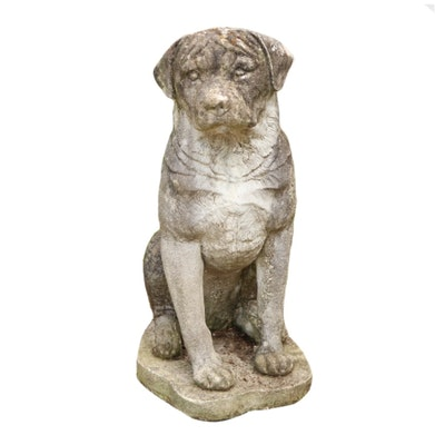 Labrador Retriever Concrete Yard Statue