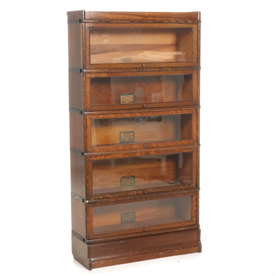 Globe-Wernicke Oak Barrister's Bookcase, Early to Mid 20th Century