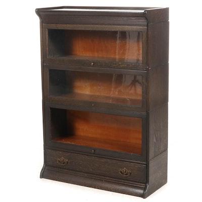 Grand Rapids Michigan Oak Barrister's Bookcase, Early 20th Century